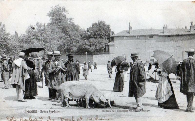 Carte postale ancienne Limoges Scene Typique (Gros Plan Superbe à Limoges