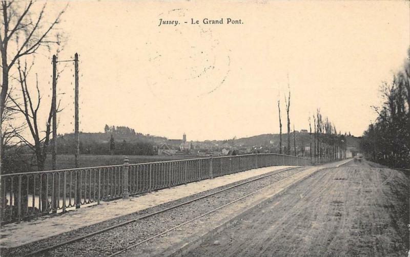 Carte postale ancienne Jussey Le Grand Pont à Jussey