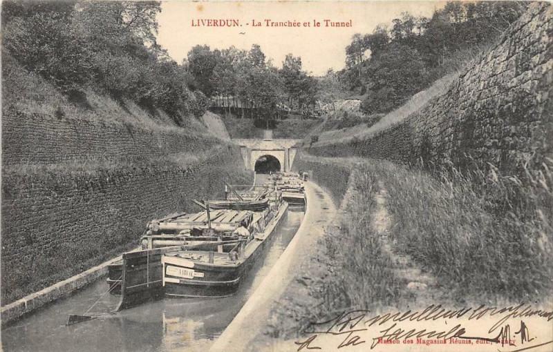 Carte postale ancienne Liverdun La Tranchee Et Le Tunnel à Liverdun