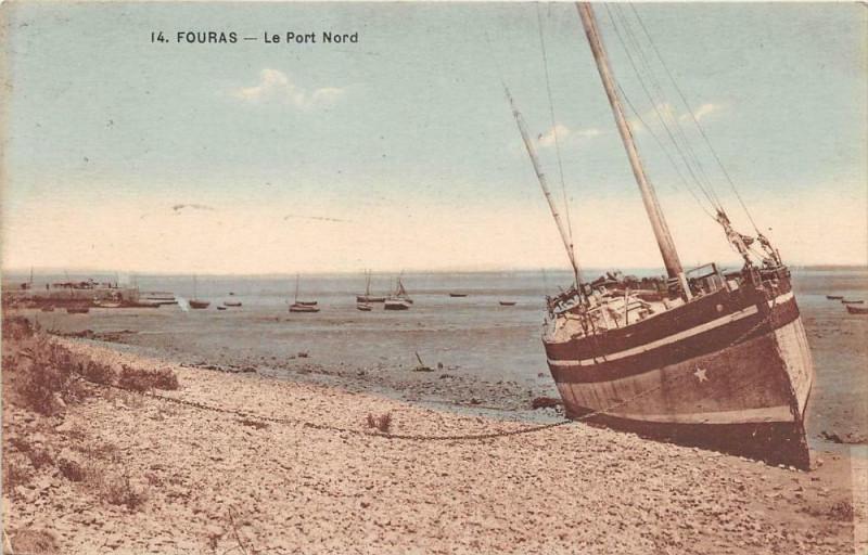 Carte postale ancienne Fouras Le Port Nord (cliché pas courant à Fouras