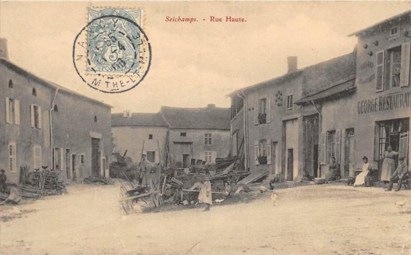 Carte postale ancienne Seichamps Rue Haute à Seichamps