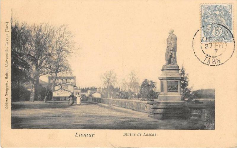Carte postale ancienne Lavaur Statue De Lascas à Lavaur