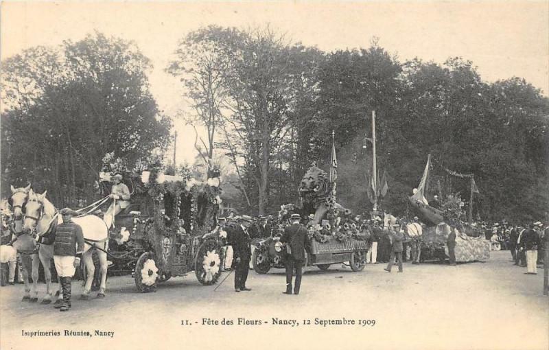 Carte postale ancienne Nancy Fete Des Fleurs Nancy 12 Septembre 1909  (N°11 à Nancy