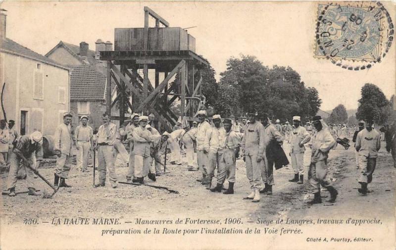 Carte postale ancienne Haute Marne Manoeuvres De Forteresse 1906 Siege De Langres à Langres