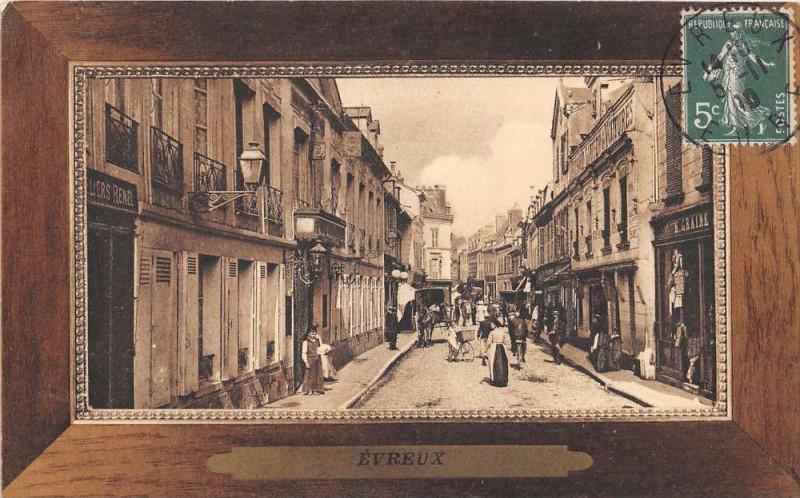Carte postale ancienne Evreux La Rue De La Harpe à Évreux