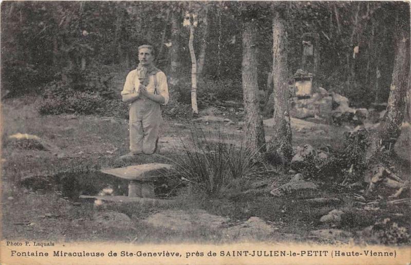 Carte postale ancienne Fontaine Miraculeuse De Sainte Genevieve Pres De Saint Julien Le Petit (c à Saint-Julien-le-Petit