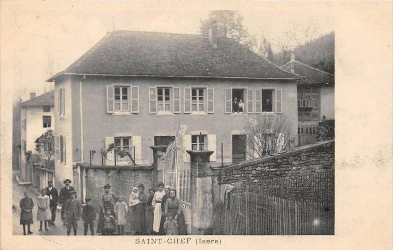 Carte postale ancienne Saint Chef Isere à Saint-Chef