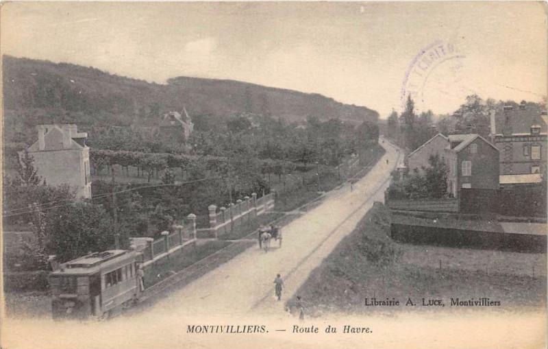 Carte postale ancienne Montivilliers Route Du Havre à Montivilliers