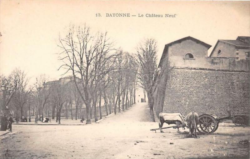 Carte postale ancienne Bayonne Le Chateau Neuf (dos non divisé) à Bayonne