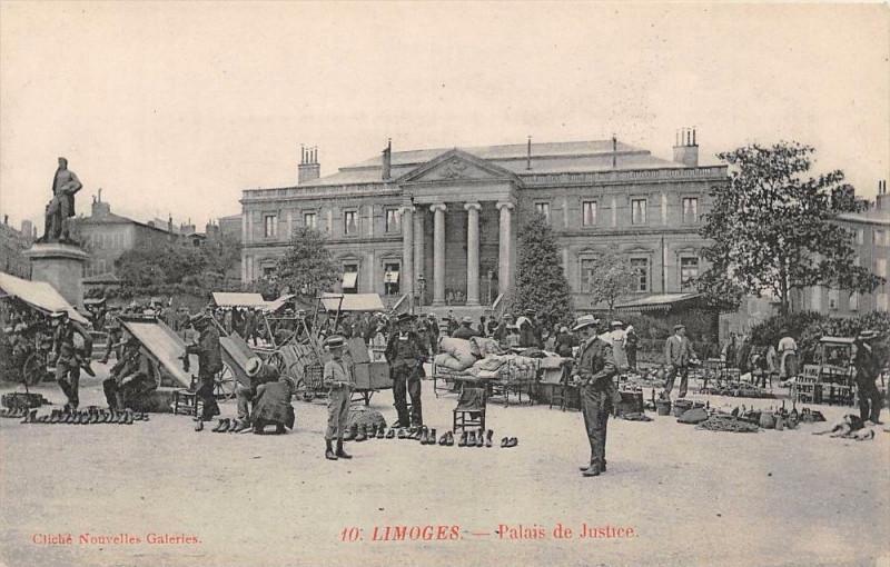Carte postale ancienne Limoges Palais De Justice à Limoges