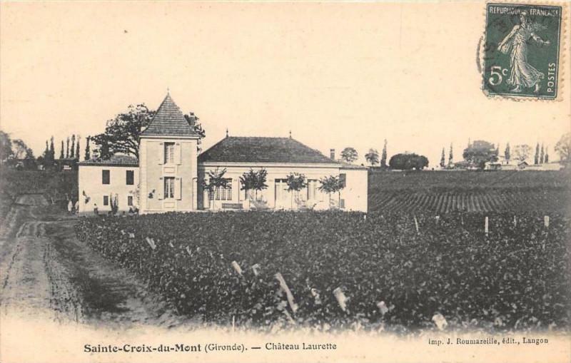 Carte postale ancienne Sainte Croix Du Mont Chateau Laurette à Sainte-Croix-du-Mont