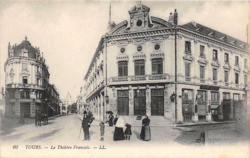 Carte postale ancienne Tours Le Theatre Francais à Tours