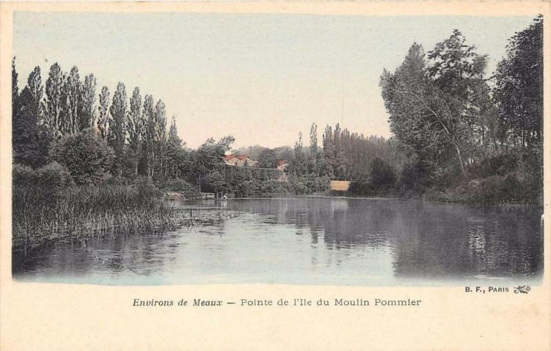 Carte postale ancienne Env.de Meaux Pointe De L'Ile Du Poulin Pommier à Meaux