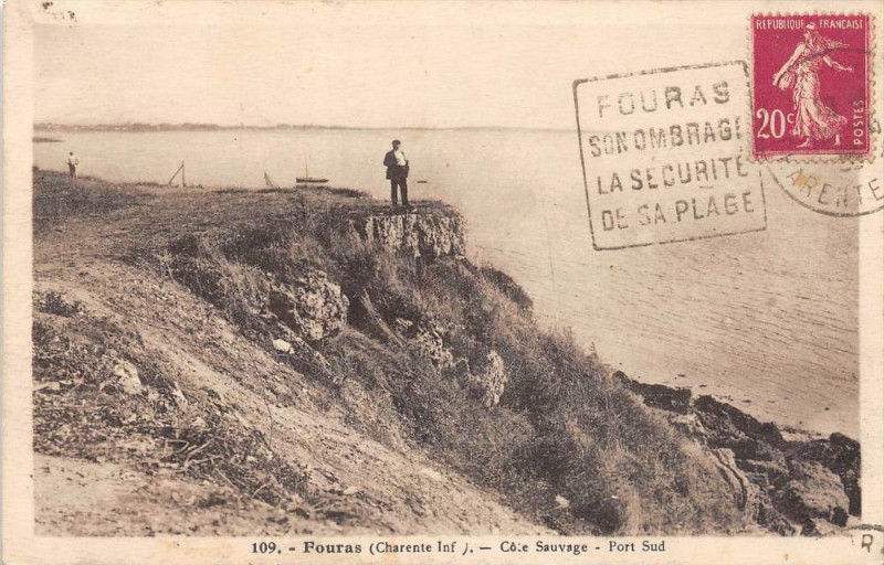 Carte postale ancienne Fouras Cote Sauvage Port Sud à Fouras