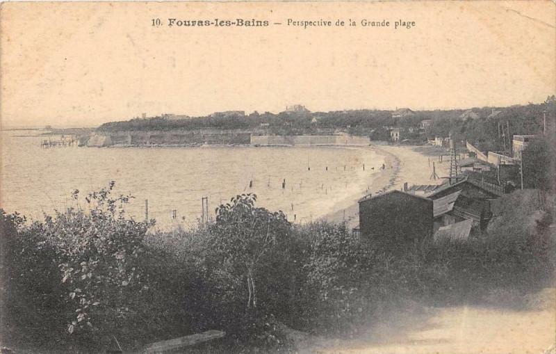 Carte postale ancienne Fouras Perspective De La Grande Plage à Fouras