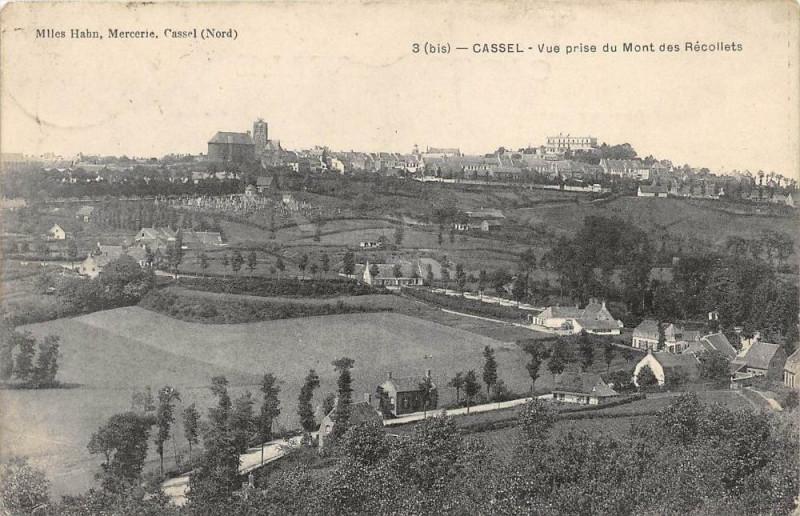 Carte postale ancienne Cassel Vue Prise Du Mont Des Recollets à Cassel