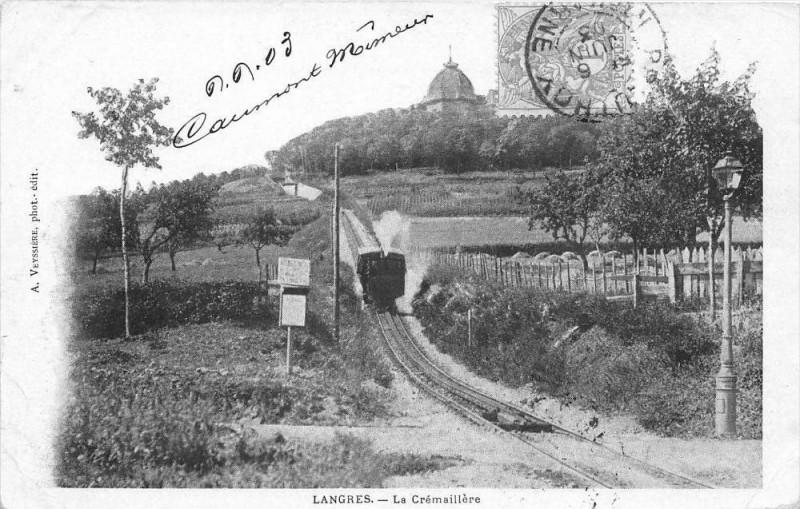Carte postale ancienne Langres La Cremaillere (dos non divisé) à Langres