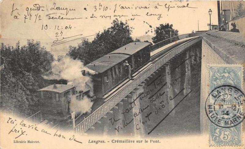 Carte postale ancienne Langres  Cremaillere Sur Le Pont à Langres