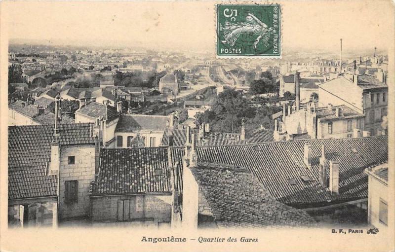 Carte postale ancienne Angouleme Quartier Des Gares à Angoulême