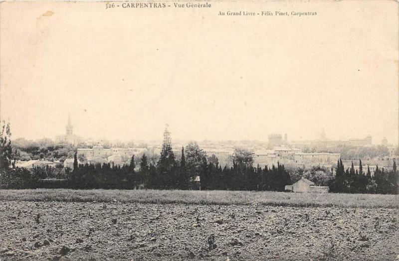 Carte postale ancienne Carpentras Vue Generale à Carpentras