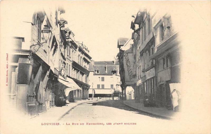 Carte postale ancienne Evreux La Rue Du Neubourg Les Avant Soliers (dos non divisé) à Évreux