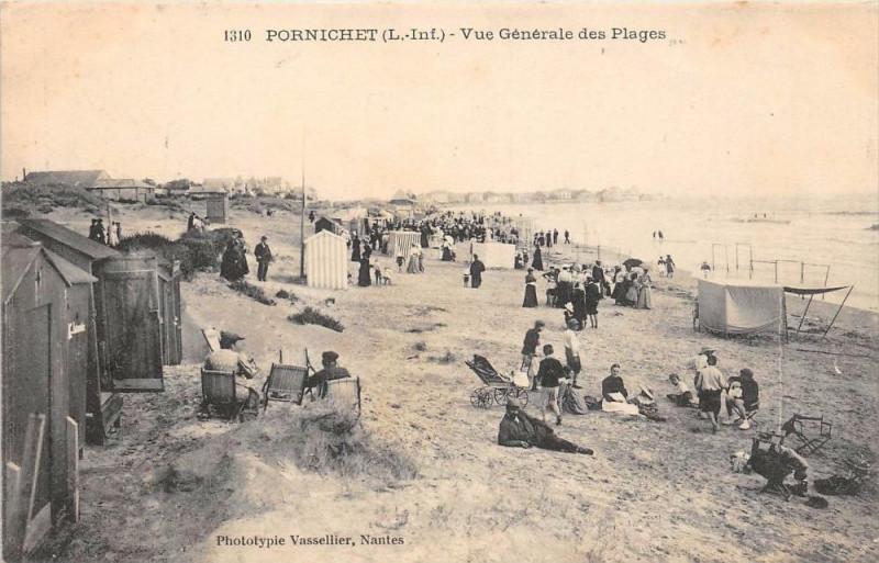 Carte postale ancienne Pornichet Vue Generale Des Plages à Pornichet