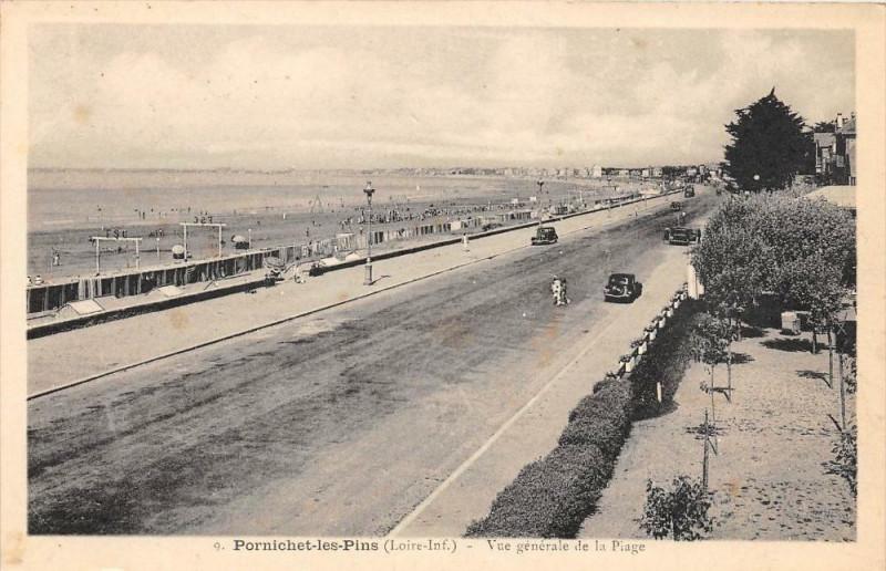 Carte postale ancienne Pornichet Les Pins Vue Generale De La Plage à Pornichet