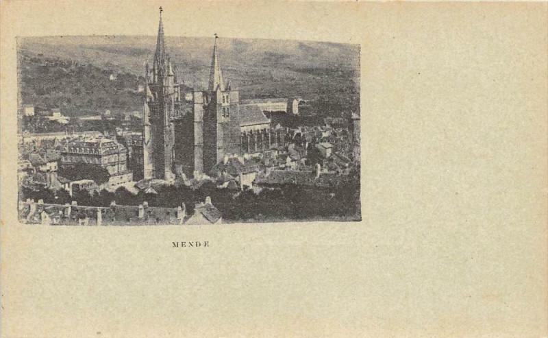 Carte postale ancienne Mende (cpa précurseur  Dos Non Divise à Mende