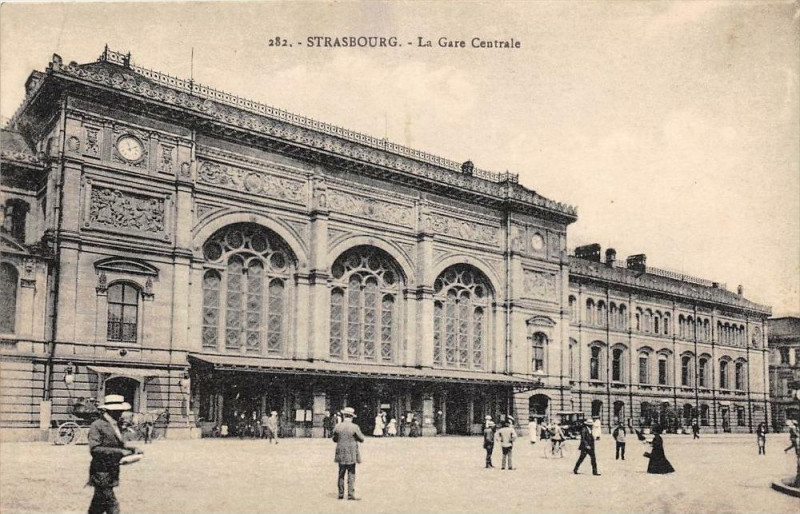 Carte postale ancienne Strasbourg La Gare Centrale à Strasbourg