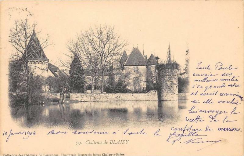 Carte postale ancienne Château De Blaisy à Saint-Mard-de-Vaux