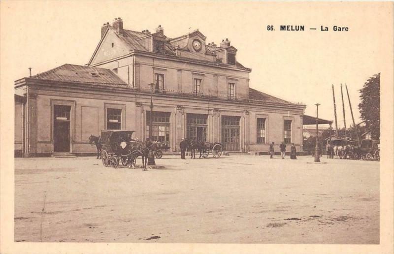 Carte postale ancienne Melun La Gare à Melun