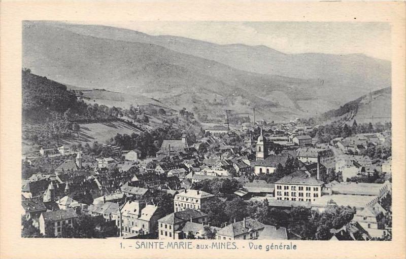 Carte postale ancienne Sainte Marie Aux Mines Vue Generale à Sainte-Marie-aux-Mines