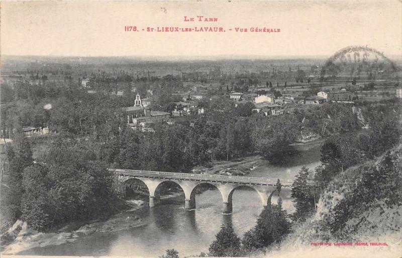 Carte postale ancienne Saint Lieux Les Lavaur Vue Generale à Lavaur