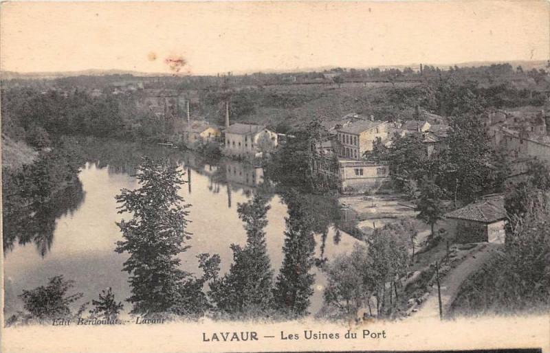 Carte postale ancienne Lavaur Les Usines Du Port à Lavaur