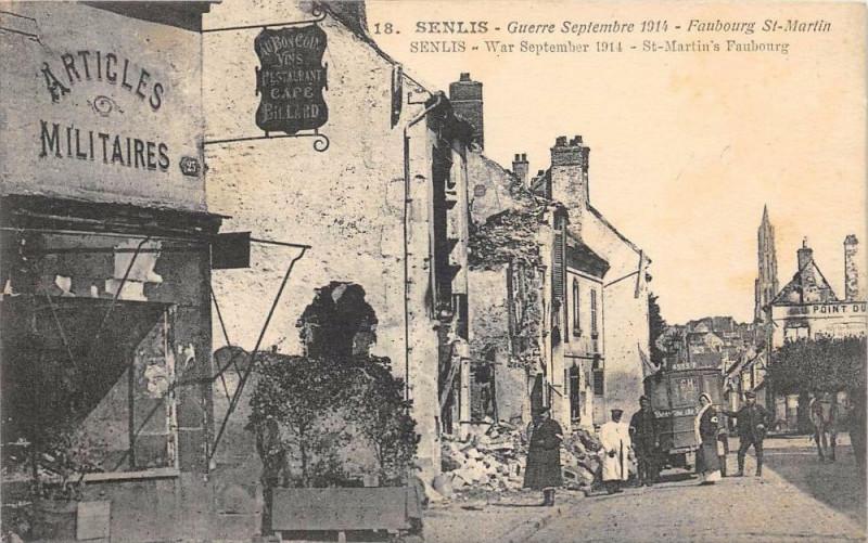 Carte postale ancienne Senlis Faubourg Saint Martin à Senlis