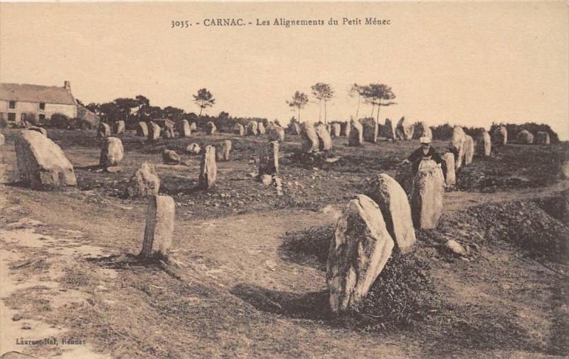 Carte postale ancienne Carnac Les Alignements Du Petit Menec à Carnac