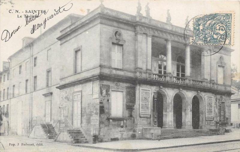 Carte postale ancienne Saintes Le Theatre (dos non divisé) à Saintes