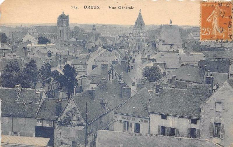 Carte postale ancienne Dreux Vue Generale à Dreux