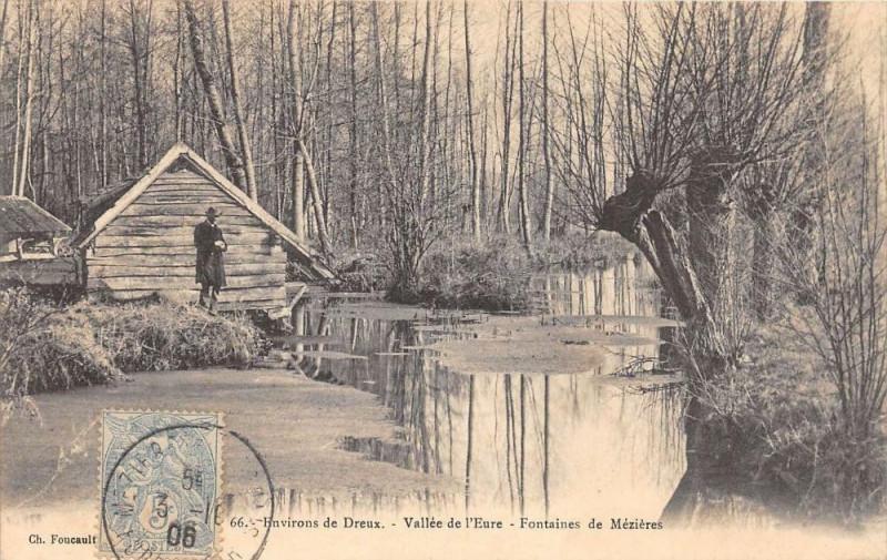Carte postale ancienne Env.dreux Vallee De L'Eure Fontaines De Mezieres à Dreux
