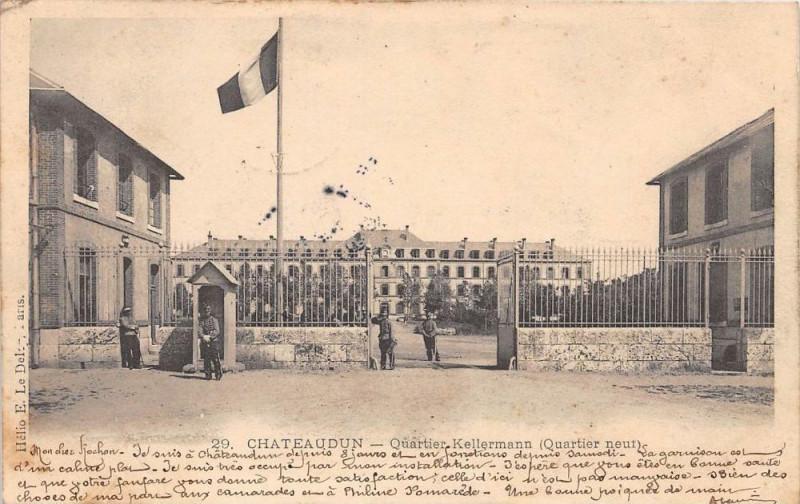 Carte postale ancienne Chateaudun Chateau Kellermann Quartier Neuf (dos non divisé) à Châteaudun