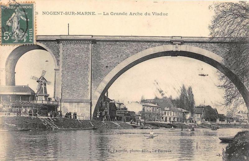 Carte postale ancienne Nogent Sur Marne La Grande Arche Du Viaduc à Nogent-sur-Marne