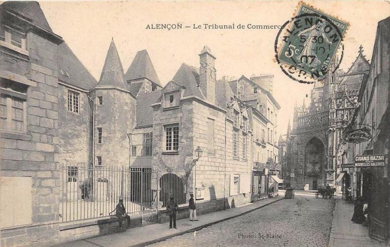 Carte postale ancienne Alencon Le Tribunal De Commerce à Alençon