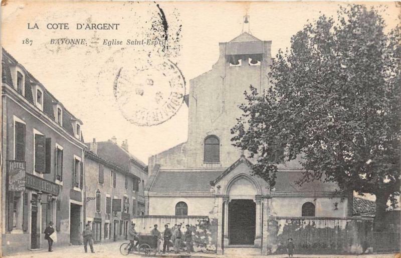 Carte postale ancienne Bayonne Eglise Saint Esprit à Bayonne