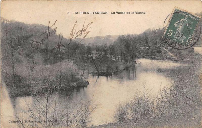 Carte postale ancienne Saint Priest Taurion La Vallee De La Vienne à Saint-Priest-Taurion