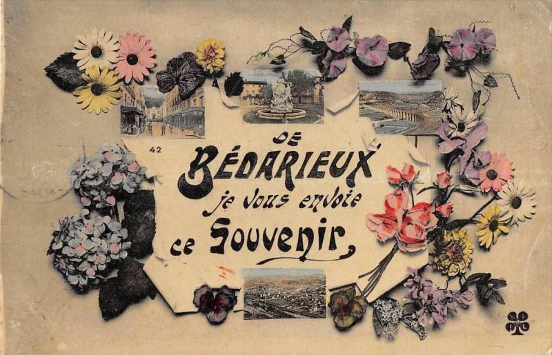 Carte postale ancienne De Bedarieux Je Vous Envoie Ce Souvenir à Bédarieux