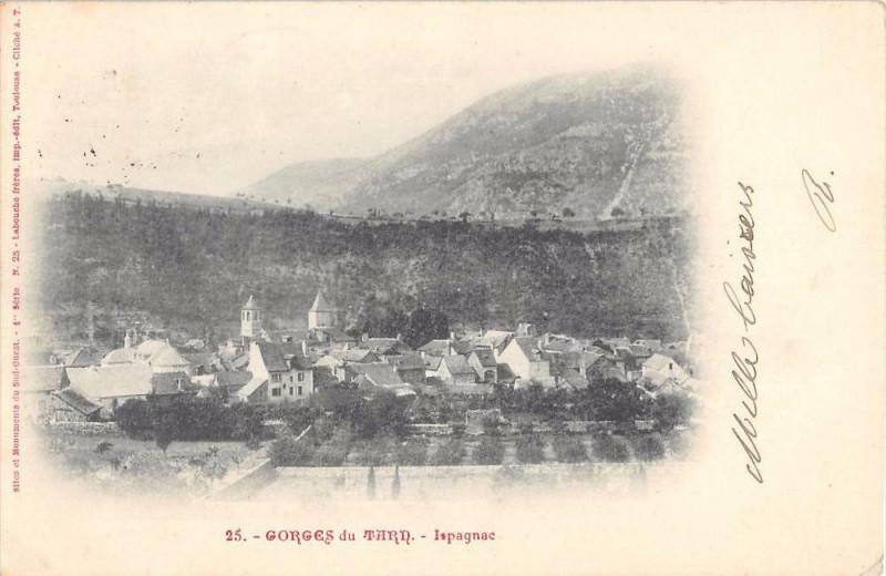 Carte postale ancienne Gorges Du Tarn Ispagnac (dos non divisé) à Ispagnac