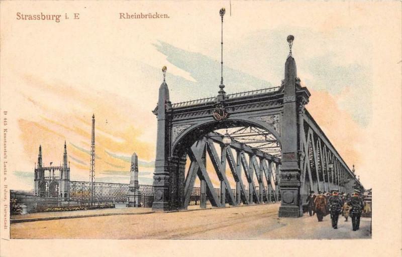 Carte postale ancienne Strasbourg Rheinbrucken (dos non divisé) à Strasbourg