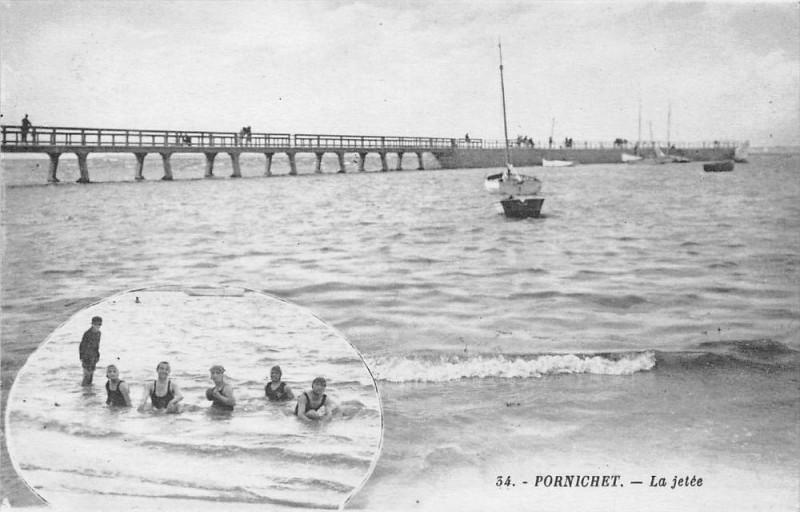 Carte postale ancienne Pornichet La Jetee à Pornichet