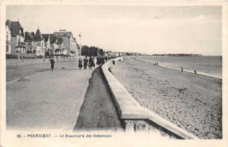 Carte postale ancienne Pornichet Le Boulevard Des Oceanides à Pornichet
