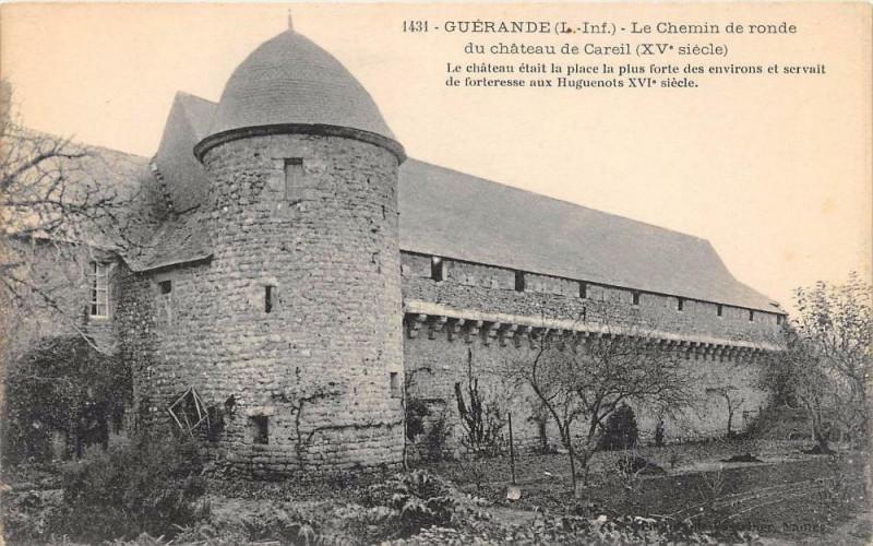 Carte postale ancienne Guerande Le Chemin De Ronde à Guérande